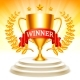 Golden Trophy Cup On Podium - GraphicRiver Item for Sale