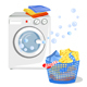 Washing Machine and Clean Clothes - GraphicRiver Item for Sale