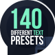Text Presets Pack - VideoHive Item for Sale