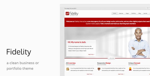 Fidelity - Responsive Joomla Business Template - Business Corporate