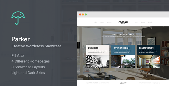 Parker - Creative WordPress Showcase - Portfolio Creative