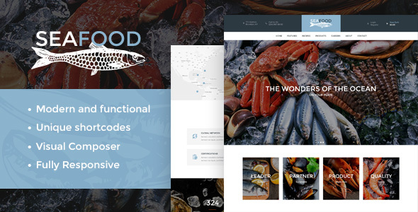 Seafood Company & Restaurant Theme - Food Retail
