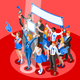 Election Infographic Crowd Congress Vector Isometric People - GraphicRiver Item for Sale