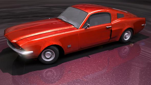 American Muscle Car - 3DOcean Item for Sale