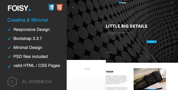 Foisy – Creative & Minimal HTML5 Template