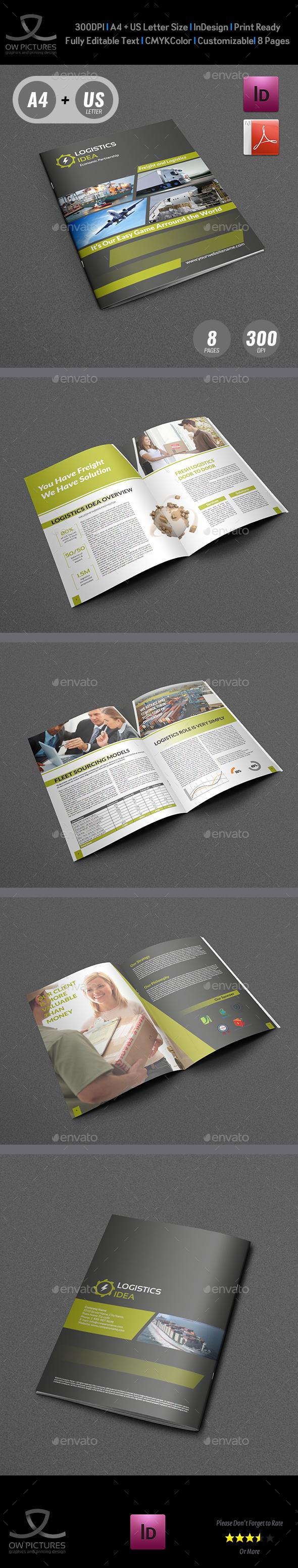 Logistics Services Brochure - 8 Pages - Brochures Print Templates