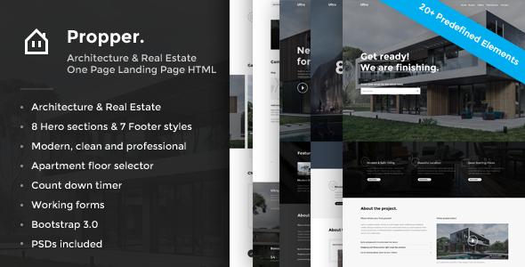 Propper - Real Estate Landing Page