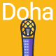 Line Flat Doha Banner - GraphicRiver Item for Sale