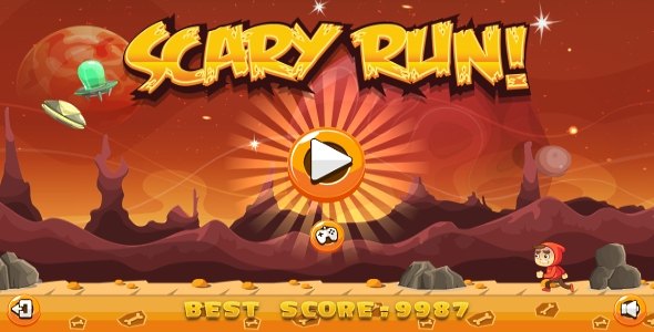 Scary Run - HTML5 Game + Android + AdMob (Capx) - CodeCanyon Item for Sale
