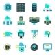 Datacenter Flat Icons Set