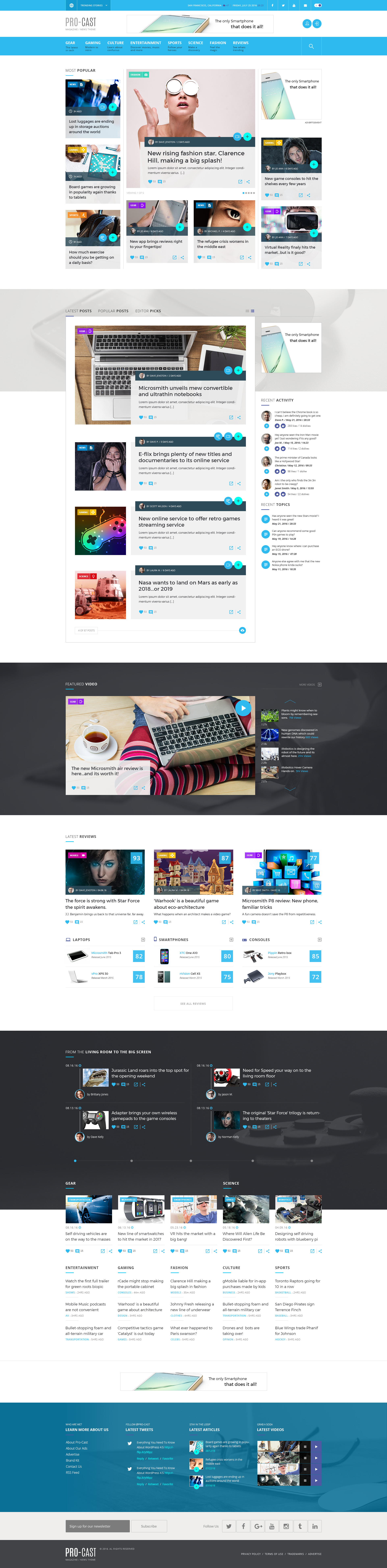 PRO-CAST Magazine HTML5 Template by Micro_Themes | ThemeForest