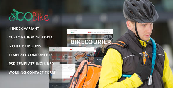 Gobike - Bike courier responsive html5 template - Retail Site Templates