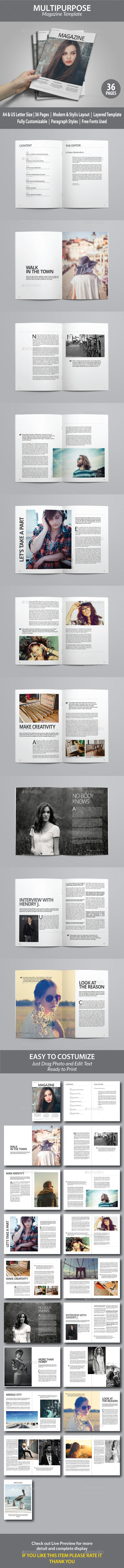 Indesign Magazine Template vol 6 - Magazines Print Templates