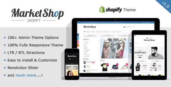 Image of MarketShop - Multi-Purpose Shopify Theme