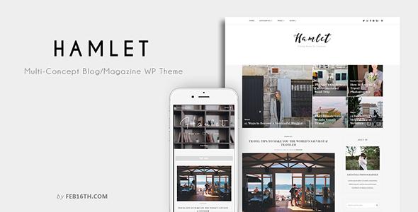 Hamlet - Multi-Concept Blog/Magazine WordPress Theme