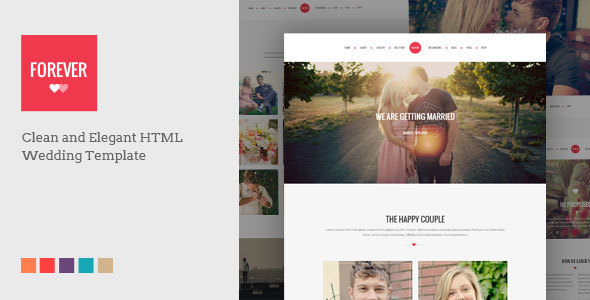 FOREVER - Responsive HTML Wedding Template - Wedding Site Templates