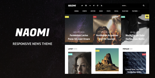 Naomi - Responsive WordPress News Theme - News / Editorial Blog / Magazine
