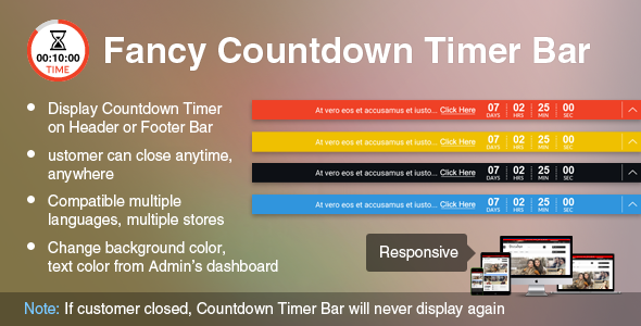 Prestashop Fancy Countdown Timer Bar Module - CodeCanyon Item for Sale