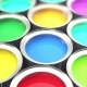 Cans Paint, Group Of Tin Metal Cans With Color Paint Dye - VideoHive Item for Sale