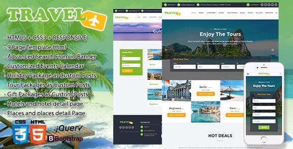 Travel, Exploration, Booking,  Creative Travel Agency Theme HTML5