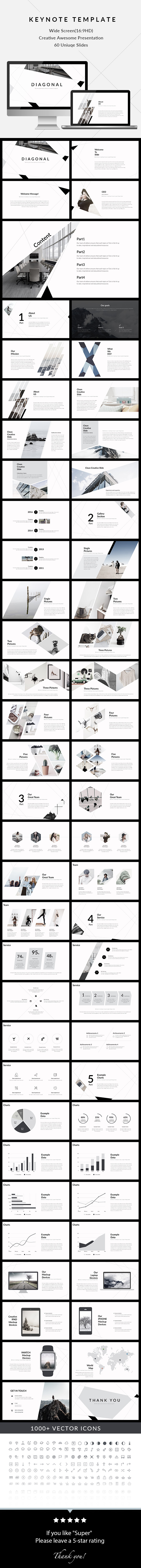 Diagonal - Clean & Creative Keynote Template