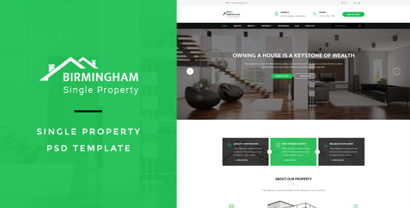 Brimingham : Single Property PSD Template