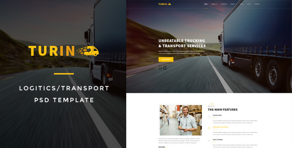 Turin : Logistics/Transport PSD Template - Business Corporate