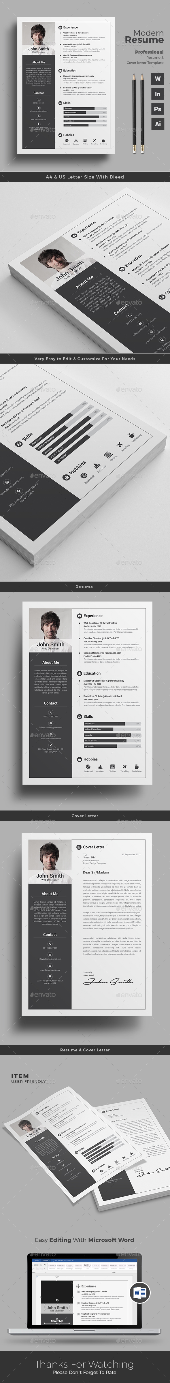 infographic resume by themedevisers
