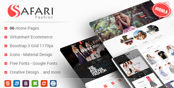 Safari - Responsive Multipurpose Virtuemart Joomla Template