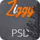 Ziggy - Landing Page PSD Template - ThemeForest Item for Sale