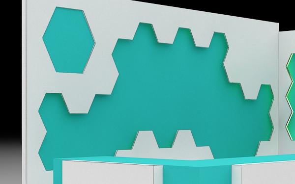Realistic Counter Design 3D 188