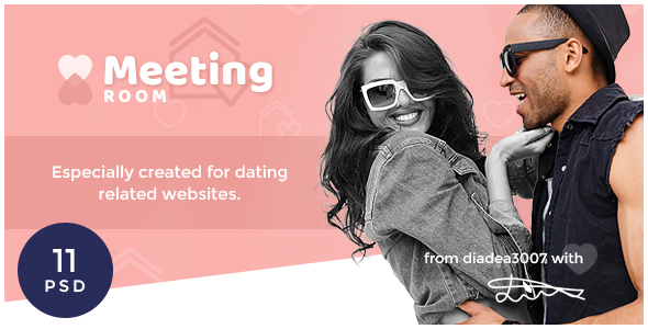 Meeting Room – Social Dating Network PSD Template