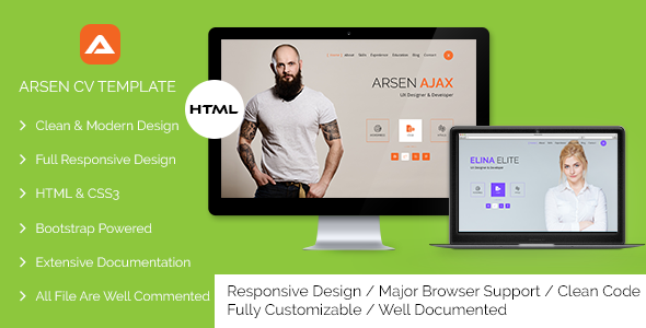 ARSEN – CV/RESUME – HTML Template