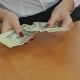 The Girl In The Office Counting Money - VideoHive Item for Sale