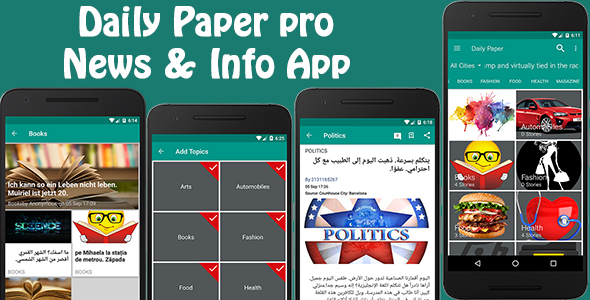 Daily Paper Pro - News & Info App - CodeCanyon Item for Sale