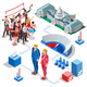Election Infographic Us Politics Vector Isometric People - GraphicRiver Item for Sale