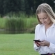 Young Businesswoman Working With Cellphone Outdoor - VideoHive Item for Sale