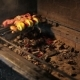 Man Prepares Shish Cebab On Barbeque - VideoHive Item for Sale