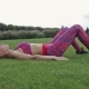 Bridge Pose Sporty Woman Doing Fitness Workout - VideoHive Item for Sale
