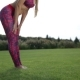 Fit Young Woman Doing Standing Forward Bend - VideoHive Item for Sale