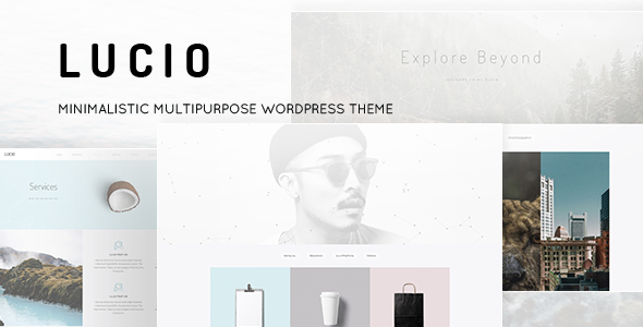 Lucio – Minimalistic Multipurpose WordPress Theme
