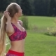 Blonde Woman Letting Her Hair Down After Work Out - VideoHive Item for Sale