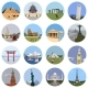 World Landmarks Flat Icon Set - GraphicRiver Item for Sale