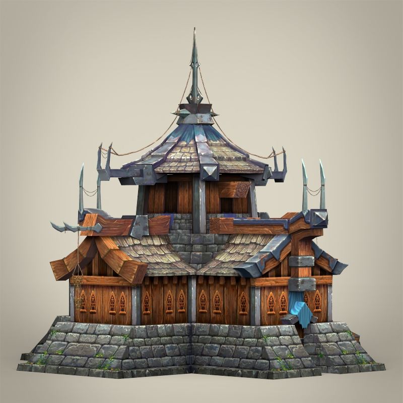 Game Ready Fantasy Medieval House By Gamingarts 3docean