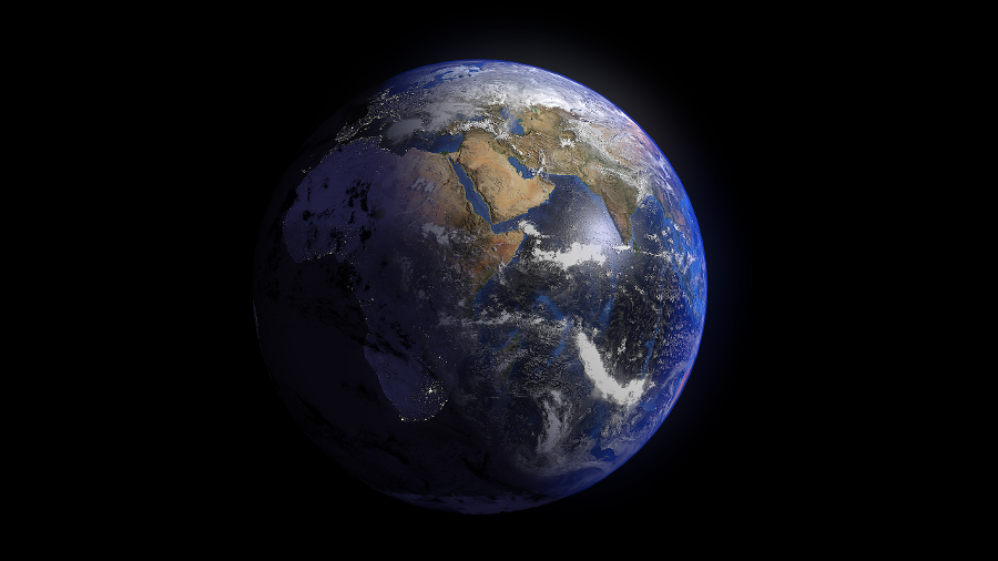 Earth K By FlashMyPixel DOcean - Satellite view of earth today