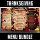 Thanksgiving Menu Bundle - GraphicRiver Item for Sale
