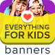 Everything For Kids Banners - GraphicRiver Item for Sale
