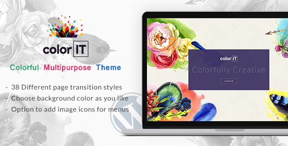 Color Folio - Portfolio Color Theme - Creative WordPress