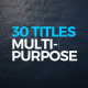 Titles Design Multi-Purpose - VideoHive Item for Sale