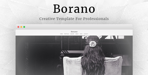 Borano – Photography / Portfolio WordPress Theme